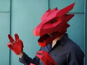 Maschere geometriche per Halloween da Wintercroft