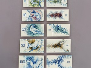 Hungarian student design fictional banknotes