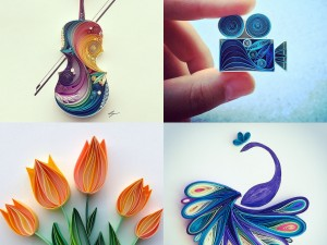 Colourful quilling designs by Instanbul-based artist