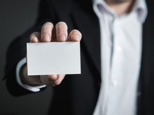 Business card, the perfect introduction